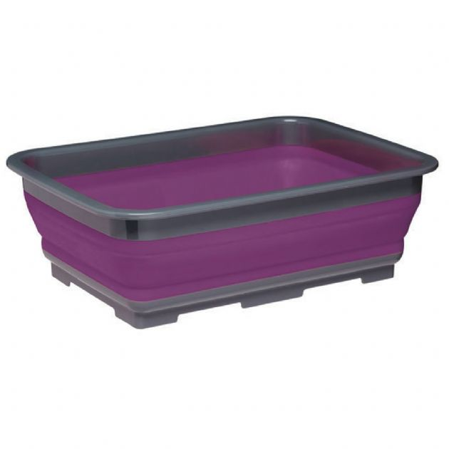 Kitchen Craft Purple Collapsible Washing Up Bowl - Graasshopper Leisure, Camping & Outdoor Leisure Accessories,